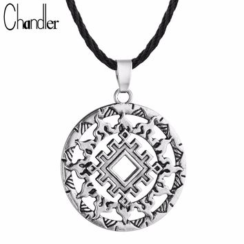 Lada Star Symbol Pendant Pagan Slavic Amulet Symbol Warrior Talisman Norse Occult Pendant & Necklace Germanic Men Enthic Jewelry
