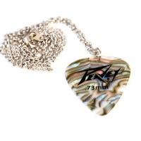 Abalone Guitar Pick Necklace