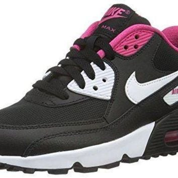 DCCKBWS Nike Youths Air Max 90 Mesh Leather Trainers womens nike air max