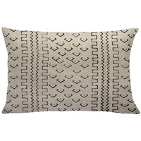 Burkhardt Mud Cloth Linen Lumbar Pillow