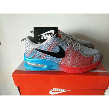 """Nike"" Men Sport Casual Multicolor Flyknit Air Cushion Sneakers Fashion Running Shoes"