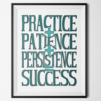 Success, turquoise - inspiration- Printable Poster - Digital Art - Download and Print