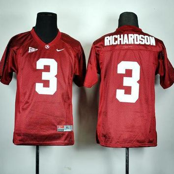 ONETOW Nike Alabama Crimson Tide Trent Richardson 3 White College  Ice Hockey Jerseys Size M,L,XL,2XL,3XL