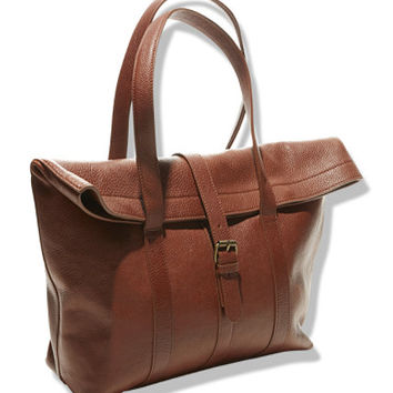 Women's Signature Westport Leather Tote | Free Shipping at L.L.Bean