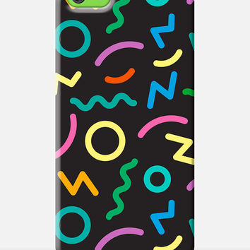 Cool iPhone 5c Case, 90s iPhone Case, Colourful 5c case, Trendy iPhone 5c Case, 90s Graphics Case, 90s Phone Case, 90s style pattern 5c case