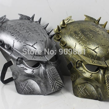 2colors The Predator AVPR Cosplay Mask Cartoon Design Gift Halloween Party Soldier Skull Masks 10pcs/lot Freeshipping