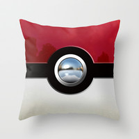 Retro Chrome pokemon pikachu pokeball Decorative cushion Throw Pillow case by Three Second