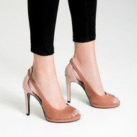 CONTRAST HIGH - HEEL SHOES-View all-SHOES-WOMAN | ZARA United Kingdom