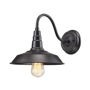 Urban Lodge 1-Light Wall Lamp in Oil Rubbed Bronze