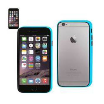 REIKO IPHONE 6 BUMPER CASE WITH TEMPERED GLASS SCREEN PROTECTOR IN BLUE