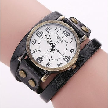 Vintage Cow Leather Bracelet WatchWrist Watch [8833425932]