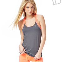 Live Love Dream Womens LLD Mesh Trim Active Tank Top