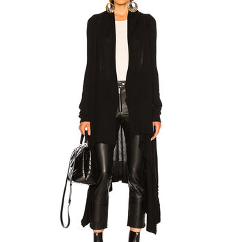 Rick Owens Long Wrap Cardigan in Black | FWRD