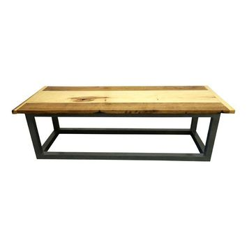 Pre-owned Reclaimed Wood Top Coffee Table
