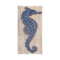 Jolly Harbour Wall Decor Washed Woodtone,Navy Blue