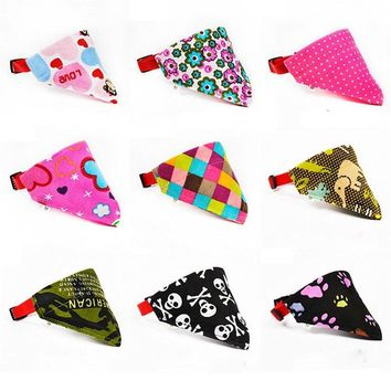 Dog Scarf 9 Styles Adjustable Dog Collar Puppy Cat Scarf Collar for Dogs Bandana Neckerchief Pet Accessories