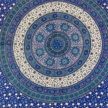 Sun And Moon Tapestries, Indian Star Tapestry, Mandala Wall Hanging, Bohemian Decor, Dorm Bedding, Picnic Blanket, Housewares