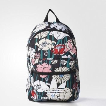 LMFOK3 Adidas' Flowers Prints Trending Fashion Sport Laptop Bag Shoulder School Bag Backpack