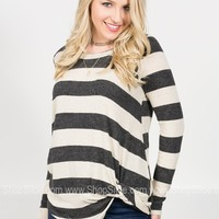 Laura Striped Knot Top | Colors