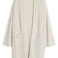 Hinge Long Tweed Herringbone Stitch Cardigan | Nordstrom