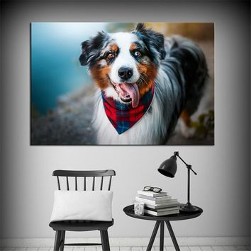 DPARTISAN wall painting Custom cute dogs portrait Wall Art and Canvas Prints for wall pictures no frame