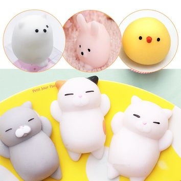 Novelty Squishy Mochi Animal Toy Cute Seal Fun Anti Stress Puzzle Emotion Vent Ball Resin Kids Funny 11 Styles Toy