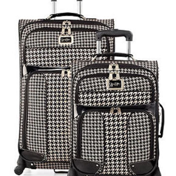 Jessica Simpson Luggage, Houndstooth Collection - Spinner Luggage - luggage - Macy's