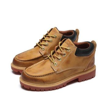 PEAP8KY Timberland Rhubarb Boots 18518 Yellow Waterproof Martin Boots