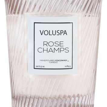 Rose Champs Classic Textured Candle