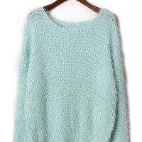 Fluffy Waffle Jumper in Mint - New Arrivals - Retro, Indie and Unique Fashion