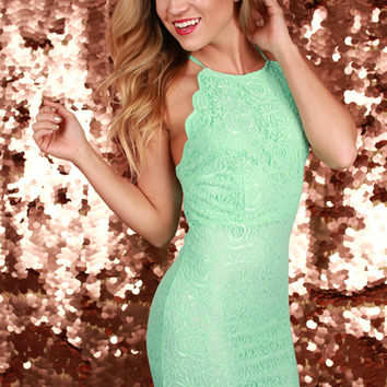 Lace My Dear Dress in Mint