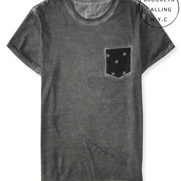 Brooklyn Calling Lunar Dye Star Pocket Tee