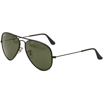 Ray Ban Men's RB/3025JM 3447/JM 002/58 Black RayBan Aviator Sunglasses 58mm