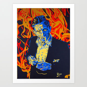 Johnny Cash Art Print by Rich Anderson
