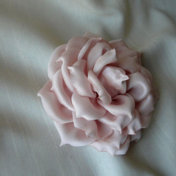 Bridal Hair Accessory, Wedding Hair Piece, Blush Wedding Fascinator, Blush Pink Hair Flower, Blush Rose Pin