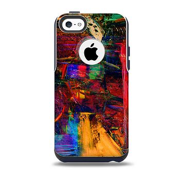 The Abstract Colorful Painted Surface Skin for the iPhone 5c OtterBox Commuter Case
