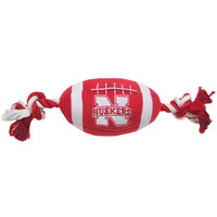 University of Nebraska Huskers Doggie Plush Football Toy