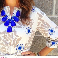 Harlow Statement Necklace in Cobalt - Kendra Scott Jewelry