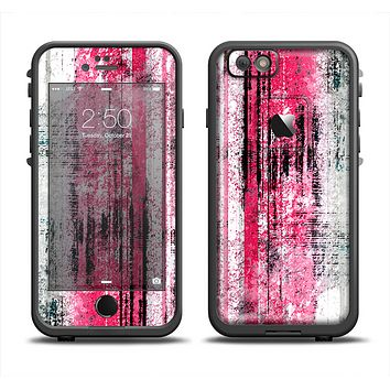 The Vintage Worn Pink Paint Skin Set for the Apple iPhone 6 LifeProof Fre Case