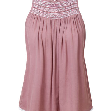 Lightweight Loose Fit Tassel Tie Spaghetti Strap Tank Top