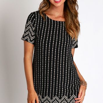 Seeing In Black and White Shift Dress