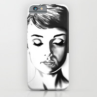 Audrey Hepburn iPhone & iPod Case by Geryes