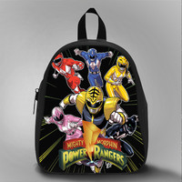 Power Ranger Mighty Morphin, School Bag Kids, Large Size, Medium Size, Small Size, Red, White, Deep Sky Blue, Black, Light Salmon Color