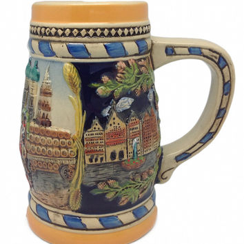 German Gift Beer Mug Munich Scene