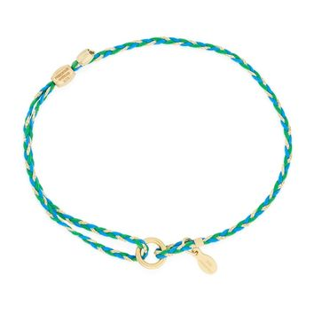 Teal Precious Threads Bracelet
