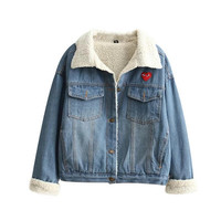 2016 Trending Fashion Women Jeans Denim  Sweater Cardigan Coat Jacket Outerwear _ 9874