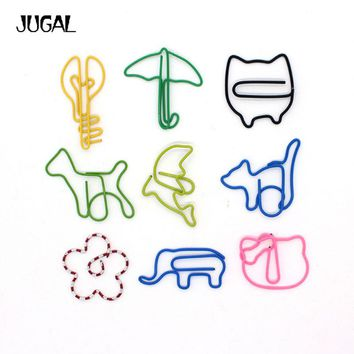 12PCS/LOT Creative Cute Kawaii Animal Series Paperclip With Humanoid Organ Bookmark Memo Clip