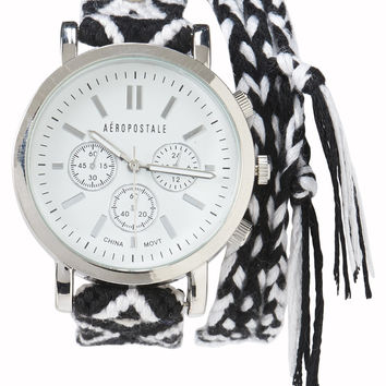 Geo Braided Wrap Watch