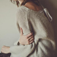 Fashion loose knit sweater