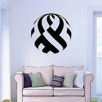 Wall Stickers Vinyl Decal Modern Abstract Decor Circle For Living Room  Unique Gift (z1735)